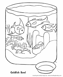 Pet Fish Coloring Pages