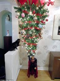 Ceiling Christmas Tree Excellent Hang From Tittle Upside Down