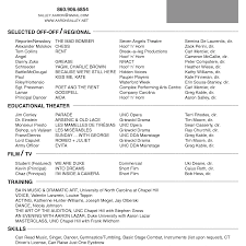 Beginning Actor Resume Sample Acting Example Examples No Experience