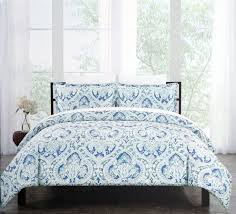 Tahari Bedding Collection by Tahari Bedding 3pc Full Queen Duvet Cover Set Floral Medallion