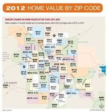Las Vegas 2012 Appreciation Map Appreciation by Zip Codes