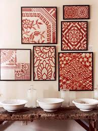 displaying artwork asymmetrically framed fabric fabrics and