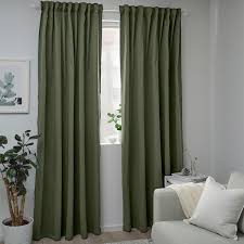 blåhuva 2 gardinenschals verdunk grün 145x300 cm ikea