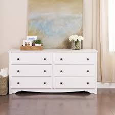 amazon com white monterey 6 drawer dresser kitchen dining