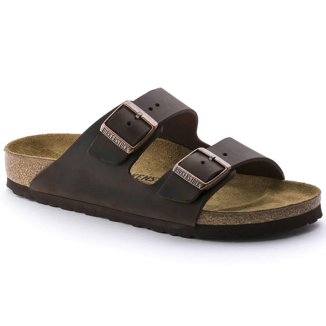 Birkenstock Unisex Arizona Sandal - Habana Oiled Leather, Size 44 EU