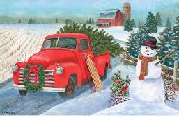 Indoor & Outdoor Christmas Truck Insert Doormat - 18