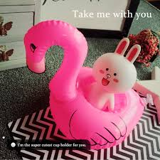Inflatable Bathtub For Adults Online India by 6pcs Mini Flamingo Floating Inflatable Boat Cup Holder Phone Sales