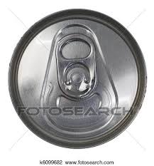 Stock Top View of a Silver Soda Pop Can Fotosearch Search Stock