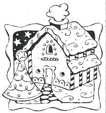 Gingerbread House Coloring Sheets