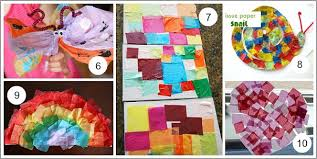 Art For Kids With Tissue Paper