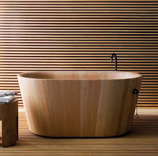 Interessane Gestaltung Eingelassene Badewanne Hölzerne Bretter Moderne Badewannen Aus Holz Ofuro Matteo Thun Rapsel Architecture