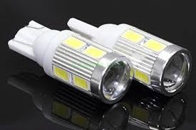 new 2 bulbs t10 samsung projector 6 led light bulbs auto