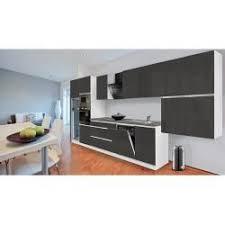 respekta premium küchenzeile glrp445hwggke breite 445 cm