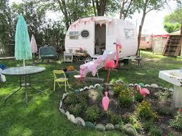 Loving On The Pink Flamingo A Backyard Trailer