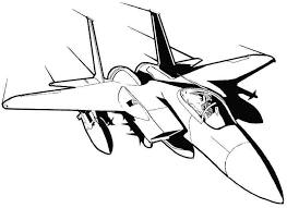 Airplane Colouring Pages Free Printable Coloring Cool Fighter Jet