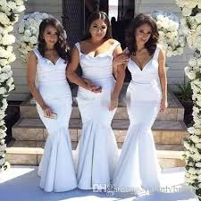 Simple Mermaid Country Bridesmaid Dresses Long Floor Length Satin Wedding Party Gowns Vestidos De Dama Honor Maid Of