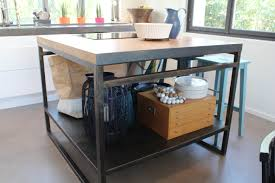 realisation cuisine realisation ilot de cuisine en bois et m tal avec gallerie 173 0