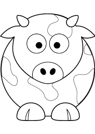 Print Free Easy Cow Drawing Coloring Pages