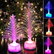 Christmas Tree Mood Plastic Xmas Toy Trees Desktop Decoration Changing Colors LED Bright Light Payty Ornament