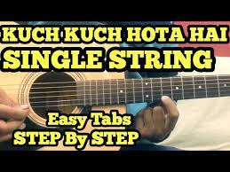 kuch kuch hota hai guitar tabs lead lesson single string