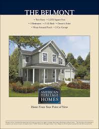 100 Belmont Builders The Floor Plan American Heritage Homes