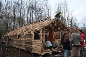 French Protestors Build 50 Pallet Buildings To Stop Airport