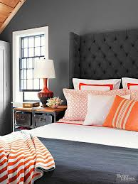 Grey Orange Bedroom On Pinterest Bedrooms Blue And Red Colors