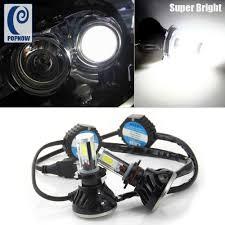 popnow 2pcs 80w 6000k h7 cob auto car led headlight bulb low beam