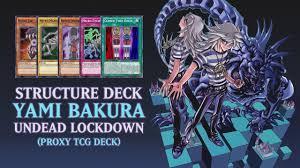 yugioh bakura character deck structure deck yami bakura undead lockdown proxy tcg deck