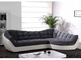 canapé d angle en cuir convertible canapé angle tissu et cuir 3 coloris bicolores leandro