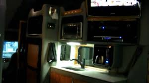 99 Youtube Truck QuotCustomquot Semi Sleeper Interior YouTube Small Bathroom