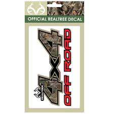 Realtree 4X4 Off Road Contour-Cut Decal Includes Two 6.25