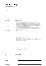 Production Supervisor - Resume Samples And Templates | VisualCV Production Supervisor Resume Sample Rumes Livecareer Samples Collection Database Sales And Templates Visualcv It Souvirsenfancexyz 12 General Transcription Business Letter Complete Writing Guide 20 Data Entry Pdf Format E Top 8 Store Supervisor Resume Samples Free Summary Examples Account Warehouse Luxury 2012