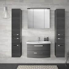 badezimmer set in graphit struktur fes 4010 66 mit waschtisch spiegel
