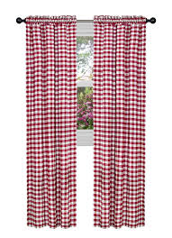 Amazon Outdoor Curtain Panels by Amazon Com Achim Home Furnishings Buffalo Check Curtain Panel 42