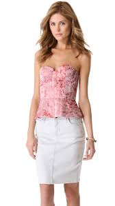 alice olivia structured strapless bustier top shopbop
