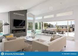 100 Modern Home Interiors Interior Design Living Room Sliding Glass Door House