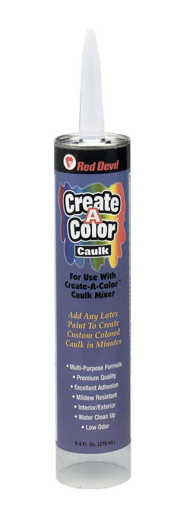 Create a Color 0409 Red Devil Tintable Caulk - 9.4oz