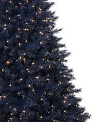 Flocked Real Christmas Trees by Navy Blue Artificial Christmas Tree Treetopia