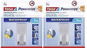 tesa powerstrips haken wasserfest selbstklebende halterung