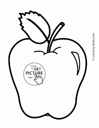 Simple Apple Coloring Page Printable Pages Click The To Pictures Of Apples Color
