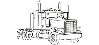 Free Printable Truck Coloring Pages 18 Semi
