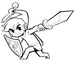 Epic Toon Link Coloring Pages 92 With Additional Free Book