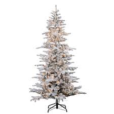 7ft Slim Christmas Tree by Christmas Greens Sterling Pre Lit Christmases 64 1000 Flockede