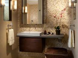 Elegant Small Guest Bathroom Ideas With Modern Interior Design As Well Floating Sink Vanity Mirrored Mounted Cabinets Attached Mosaic
