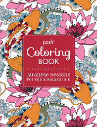 Amazon Posh Adult Coloring Book Japanese Designs For Fun Relaxation Books 9781449471996 Andrews McMeel Publishing