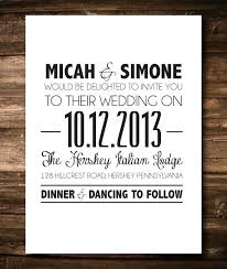 Simple Wedding Invitation Packed With Black And White Invitations To Inspire You In Creating