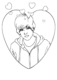 Free Printable Coloring Justin Bieber Pages 36 With Additional Books