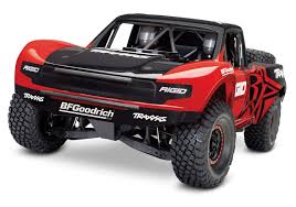Amazon.com: Traxxas Unlimited Desert Racer 4X4 RC Race Truck, Red ...