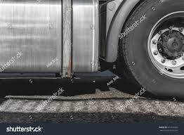 100 Semi Truck Fuel Tanks The Rear Wheel Of The Powerful Truck With Galvanized Fuel Tank